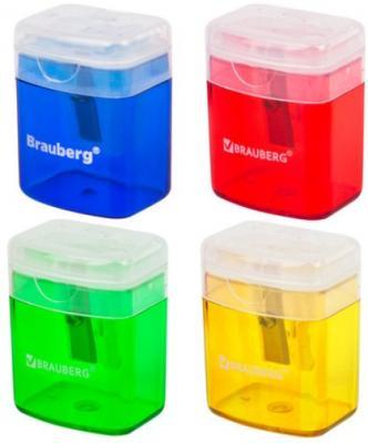 Фото - Точилка BRAUBERG OfficeBox, с контейнером и крышкой, прямоугольная, в упаковке с подвесом, ассорти, 222494 точилка brauberg diamond dual с контейнером пластиковая овальная 2 отверстия цвет ассорти 226941