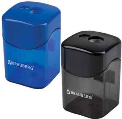 Фото - Точилка BRAUBERG Win, с большим контейнером, прямоугольная, 2 отверстия, дисплей, ассорти (черная, синяя), 222495 точилка brauberg diamond dual с контейнером пластиковая овальная 2 отверстия цвет ассорти 226941