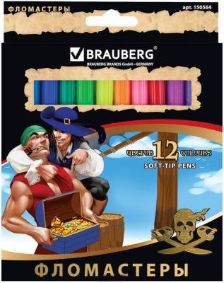 Набор фломастеров BRAUBERG Корсары 1 мм 12 шт