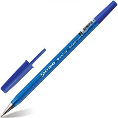 Ручка шариковая BRAUBERG Black Jack синий ручка шариковая brauberg black jack синий