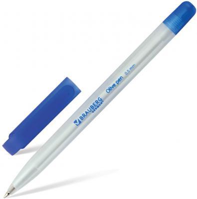 Ручка шариковая масляная BRAUBERG Olive Pen синий 1 мм шариковая ручка масляная brauberg x 100 синий