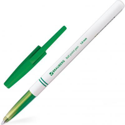 Ручка шариковая BRAUBERG Офисная зеленый 1 мм baoke 1no850 офисная ручка ручка для записи