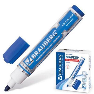 Маркер для доски BRAUBERG 150488 5 мм синий цена