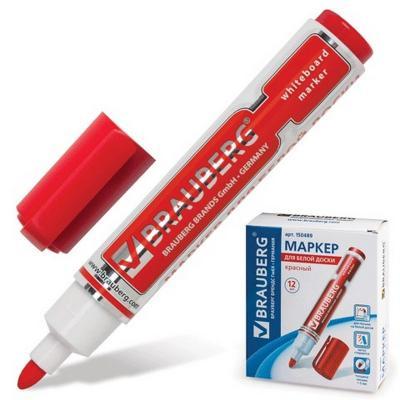 Маркер для доски BRAUBERG 150489 5 мм красный