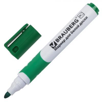 Маркер для доски BRAUBERG 151251 5 мм зеленый цена