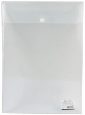 Папка-конверт с кнопкой BRAUBERG, А4, вертикальная, 150 мкм, до 100 листов, прозрачная, 224978 станция насосная зубр нас м3 1200 ч