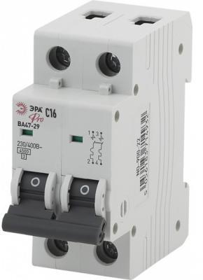 Автомат ЭРА Pro NO-900-28 ва47-29 2p 16а кривая c (6/90/1620) автомат эра no 902 101 ва47 29 1p 10а кривая c 12 180 3780