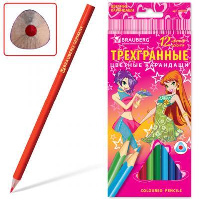 Набор цветных карандашей BRAUBERG Pretty Girls 12 шт 176 мм