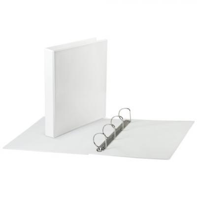Фото - Папка на 4 кольцах BRAUBERG, обзорная, картон/ПВХ, 65 мм, белая, до 400 листов (для составления каталогов), 221487 brauberg папка на 2 х кольцах a4 картон пвх 35 мм синий