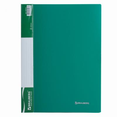 Папка на 2 кольцах BRAUBERG Стандарт, 25 мм, зеленая, до 170 листов, 0,8 мм, 221613 цена