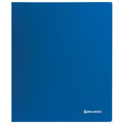 Папка на 4 кольцах BRAUBERG Стандарт, 40 мм, синяя, до 300 листов, 0,9 мм, 221619 папка файл на 4 кольцах темно синяя pvc 35 мм диаметр 20мм 08 1693 2 тс