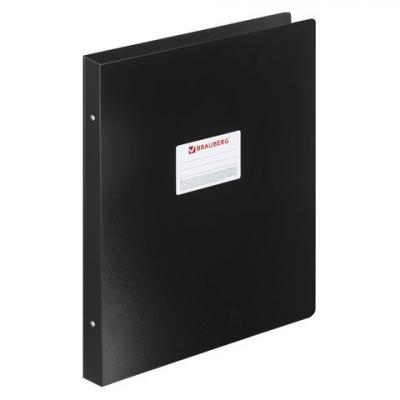 Папка на 4 кольцах BRAUBERG Стандарт, А3, вертикальная, 30 мм, черная, до 250 листов, 0,8 мм, 225766