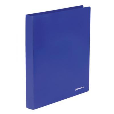 Папка на 2 кольцах BRAUBERG Office, 32 мм, синяя, до 250 листов, 0,5 мм, 227498