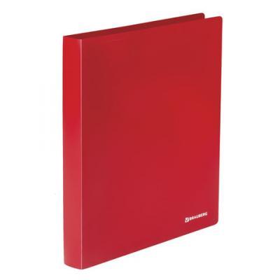 Папка на 2 кольцах BRAUBERG Office, 32 мм, красная, до 250 листов, 0,5 мм, 227500