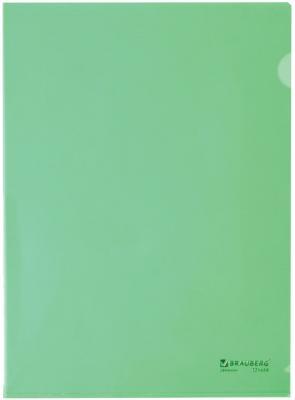 Папка-уголок жесткая BRAUBERG, зеленая, 0,15 мм, 221639 стильные настенные полки