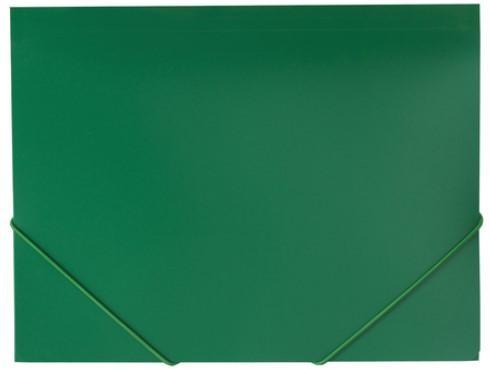 Папка на резинках BRAUBERG Office, зеленая, до 300 листов, 500 мкм, 227710