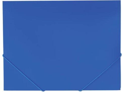 Папка на резинках BRAUBERG Office, синяя, до 300 листов, 500 мкм, 227712