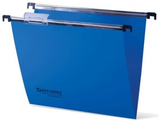 Подвесные папки пластиковые BRAUBERG(Италия), комплект 5 шт., 315х245 мм, до 80 л. А4, синие, пластиковые табуляторы, 231797