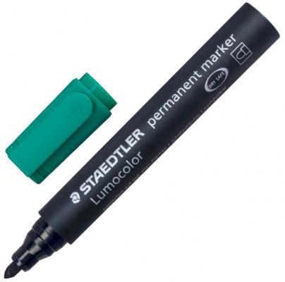 Фото - Маркер перманентный Staedtler Lumocolor 2 мм зеленый маркер для доски staedtler 301 5 1 мм зеленый