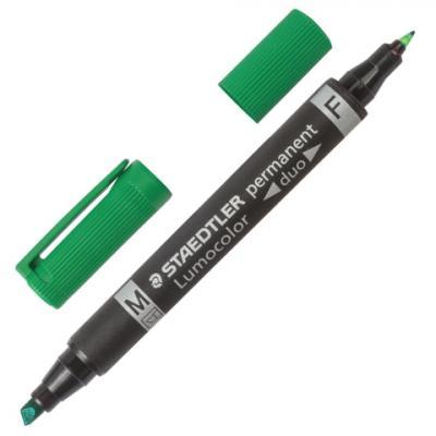 Фото - Маркер двусторонний Staedtler 151041 ( 348 B-5) 0.6 мм зеленый маркер для доски staedtler 301 5 1 мм зеленый