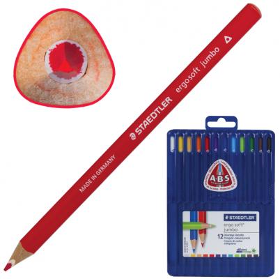 Набор цветных карандашей Staedtler Ergosoft 12 шт 175 мм утолщенные