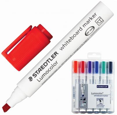 Набор маркеров для доски Staedtler Lumocolor 2-5 мм 6 шт оранжевый красный фиолетовый синий зеленый черный маркер для флипчарта staedtler lumocolor 2 5 мм 4 шт синий зеленый черный красный