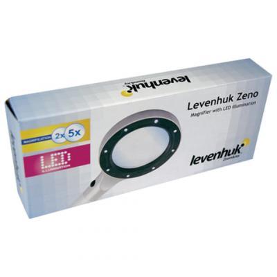 Лупа LEVENHUK Zeno 100, увеличение х2,5/х5, диаметр линз 78/19 мм, металл, 38121