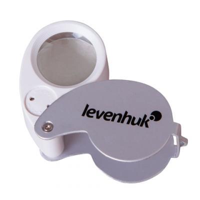 Лупа LEVENHUK Zeno Gem M5, увеличение х40, диаметр линзы 25 мм, подсветка, складная, металл, 70436 окуляр levenhuk левенгук uwa 58° 15 мм 1 25