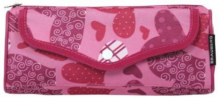 Пенал-косметичка BRAUBERG, полиэстер, розовый, Каприз, 21х5х8 см, 223904 еж стайл пенал косметичка sofia find my story
