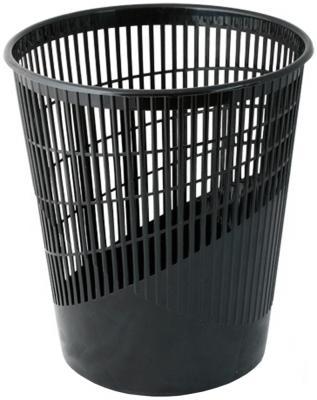 Корзина для бумаг BRAUBERG, средняя сетчатая, 11 литров, черная, 230441 корзина для бумаг цельнолитая черная 18 литров