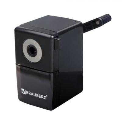 Точилка BRAUBERG BlackJack 222516 пластик черный