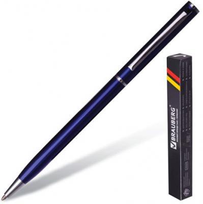 Ручка шариковая поворотная BRAUBERG Delicate Blue бизнес-класса 141400 синий 1 мм ручка шариковая brauberg carina blue синий