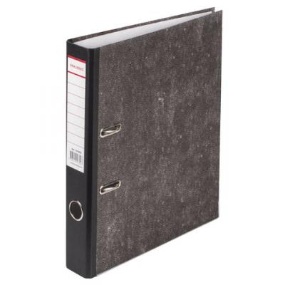 Папка-регистратор BRAUBERG, фактура стандарт, с мраморным покрытием, 50 мм, черный корешок, 220982 папка регистратор офисмаг фактура стандарт с мраморным покрытием 80 мм синий корешок 225583