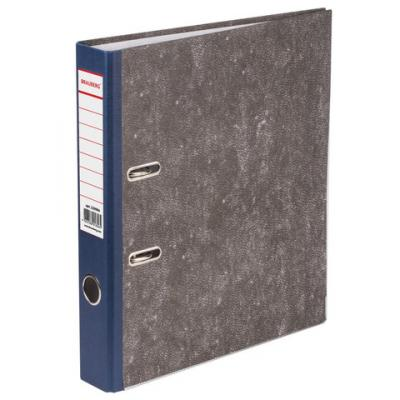 Папка-регистратор BRAUBERG, фактура стандарт, с мраморным покрытием, 50 мм, синий корешок, 220984 папка регистратор офисмаг фактура стандарт с мраморным покрытием 80 мм синий корешок 225583