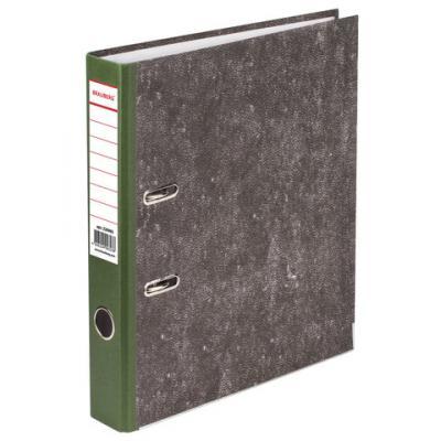 Папка-регистратор BRAUBERG, фактура стандарт, с мраморным покрытием, 50 мм, зеленый корешок, 220985 папка регистратор офисмаг фактура стандарт с мраморным покрытием 80 мм синий корешок 225583