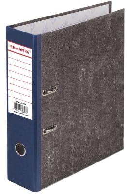Папка-регистратор BRAUBERG, фактура стандарт, с мраморным покрытием, 80 мм, синий корешок, 220989 папка регистратор офисмаг фактура стандарт с мраморным покрытием 80 мм синий корешок 225583
