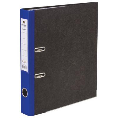 цены Папка-регистратор BRAUBERG, мраморное покрытие, А4 +, содержание, 50 мм, синий корешок, 221982