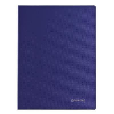 Папка с металлическим скоросшивателем и внутренним карманом BRAUBERG диагональ, темно-синяя, до 100 листов, 0,6 мм, 221352 brauberg папка диагональ цвет синий 221352