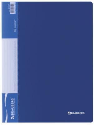 Фото - Папка 80 вкладышей BRAUBERG стандарт, синяя, 0,9 мм, 221607 папка 100 вкладышей brauberg стандарт синяя 0 9 мм 221609