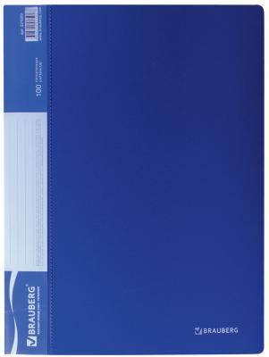 Фото - Папка 100 вкладышей BRAUBERG стандарт, синяя, 0,9 мм, 221609 папка 100 вкладышей brauberg стандарт синяя 0 9 мм 221609
