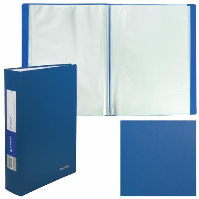Фото - Папка 100 вкладышей BRAUBERG Office, синяя, 0,8 мм, 222640 папка 100 вкладышей brauberg стандарт синяя 0 9 мм 221609