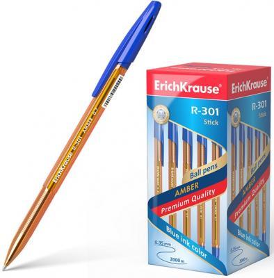 Ручка шариковая ERICH KRAUSE R-301 Amber, корпус тонированный оранжевый, узел 0,7 мм, линия 0,35 мм, синяя, 31058 erich krause набор шариковых ручек r 301 amber 0 7 stick