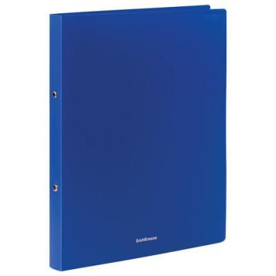 Папка на 2 кольцах ERICH KRAUSE Classic, 24 мм, до 130 листов, 500 мкм, синяя, 42965