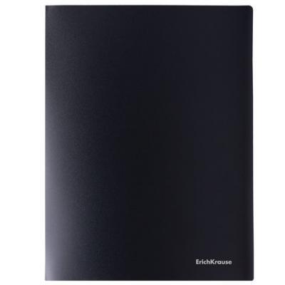 Папка на 4 кольцах ERICH KRAUSE Classic, 35 мм, до 250 листов, 500 мкм, черная, 43021