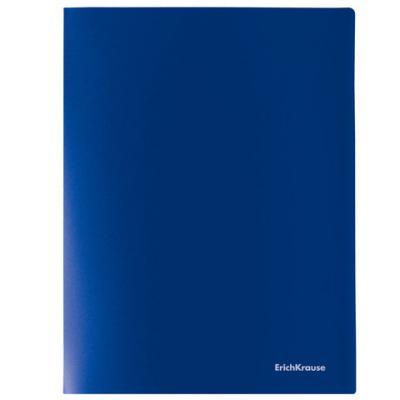 Папка на 4 кольцах ERICH KRAUSE Classic, 35 мм, до 250 листов, 500 мкм, синяя, 43026