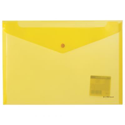 Папка-конверт с кнопкой ERICH KRAUSE Envelope, А4, полупрозрачная, до 100 листов, 180 мкм, неоновая, ассорти, 42931 папка портфель erich krause classic а4 800 мкм