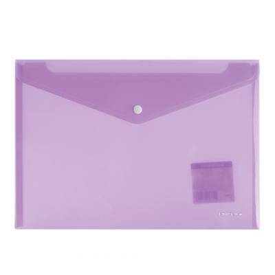 Папка-конверт с кнопкой ERICH KRAUSE Envelope, А4, полупрозрачная, до 100 листов, 180 мкм, пастель, ассорти, 42936 папка портфель erich krause classic а4 800 мкм