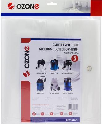 Пылесборник OZONE MXT-311/5 turbo ориг.синт. мешок д/проф.пылесосов 5 шт 72л. все цены