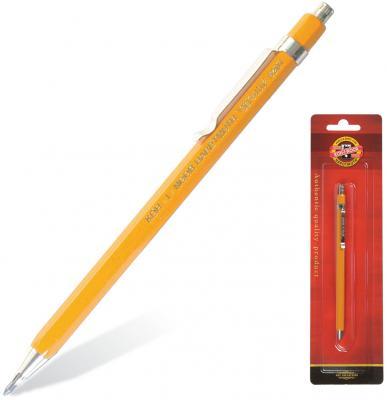 Карандаш механический KOH-I-NOOR, корпус желтый, цанговый, точилка, 2 мм, 5201CN1004BL