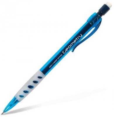 """Карандаш механический KOH-I-NOOR """"Geometry"""", корпус тонированный голубой, грип, ластик, 0,5 мм, 5780008001KS цена и фото"""